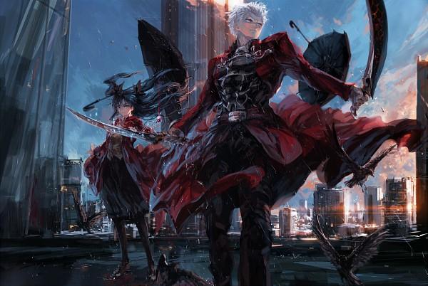 Tags: Anime, Stu Dts, Fate/stay night, Tohsaka Rin, Archer (Fate/stay night), Fanart From Pixiv, Fanart, Pixiv