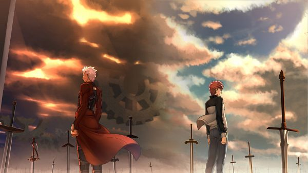 Tags: Anime, Kotera Ryou, Fate/stay night, Emiya Shirou, Archer (Fate/stay night), Unlimited Blade Works (Noble Phantasm), PNG Conversion, 4K Ultra HD Wallpaper, HD Wallpaper, Facebook Cover, Wallpaper