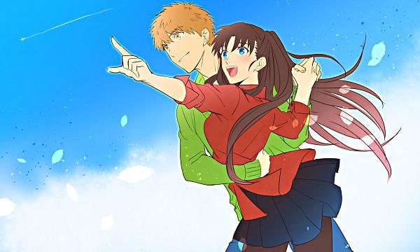 Tags: Anime, Pixiv Id 12937740, Fate/stay night, Tohsaka Rin, Emiya Shirou, Wallpaper, Fanart From Pixiv, Fanart, Pixiv