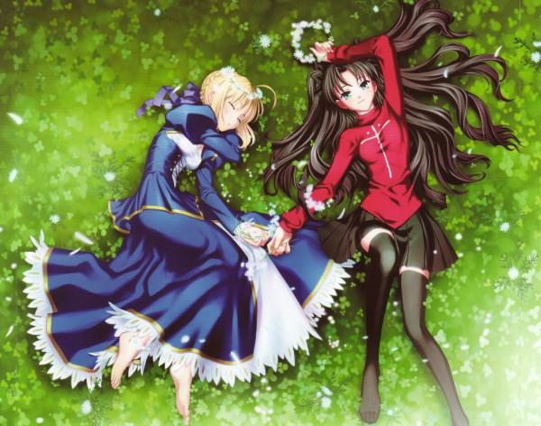 Tags: Anime, Yamanaka Kotetsu, TYPE-MOON, Fate/stay night, Tohsaka Rin, Saber (Fate/stay night), Crease, Screening