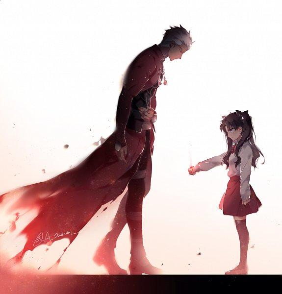 Tags: Anime, hgsueun, Fate/stay night: Unlimited Blade Works, Fate/stay night, Archer (Fate/stay night), Tohsaka Rin, Knight, Pixiv