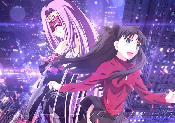 Tags: Anime, Fate/stay night, Rider (Fate/stay night), Tohsaka Rin, Fanmade Wallpaper, Edited, Wallpaper