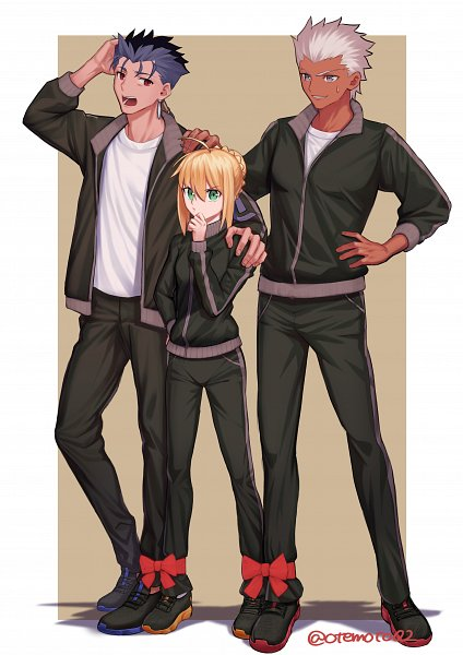 Tags: Anime, Pixiv Id 27343084, Fate/stay night, Archer (Fate/stay night), Saber (Fate/stay night), Lancer (Fate/stay night), Fanart From Pixiv, Pixiv, Fanart