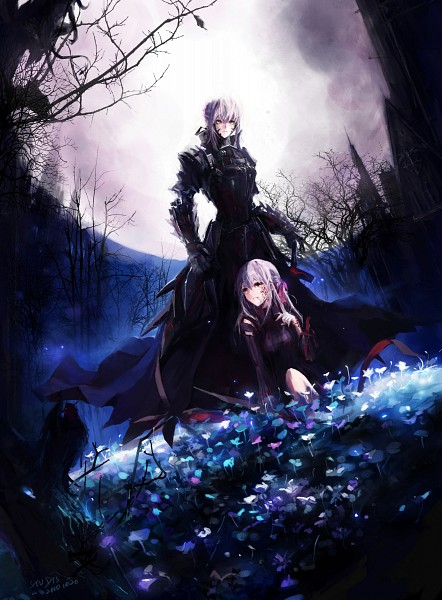 Tags: Anime, Stu Dts, TYPE-MOON, Fate/stay night, Saber Alter, Matou Sakura, Dark Sakura, Saber (Fate/stay night), Pixiv