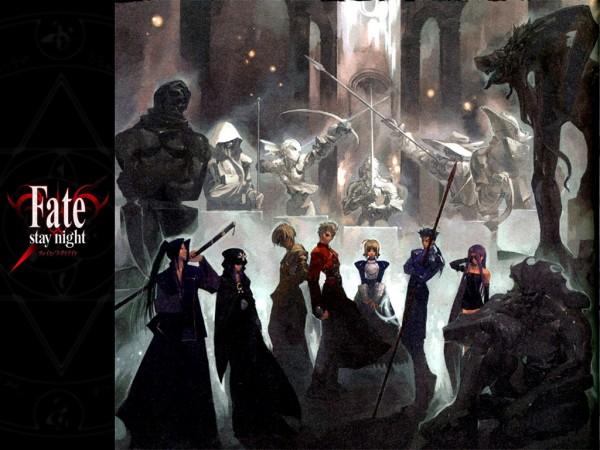 Tags: Anime, Aikura Chihiro, Fate/stay night, Berserker (Fate/stay night), Caster (Fate/stay night), Lancer (Fate/stay night), Saber (Fate/stay night), Rider (Fate/stay night), Assassin (Fate/stay night), Archer (Fate/stay night), Gilgamesh, Assassin, Wallpaper