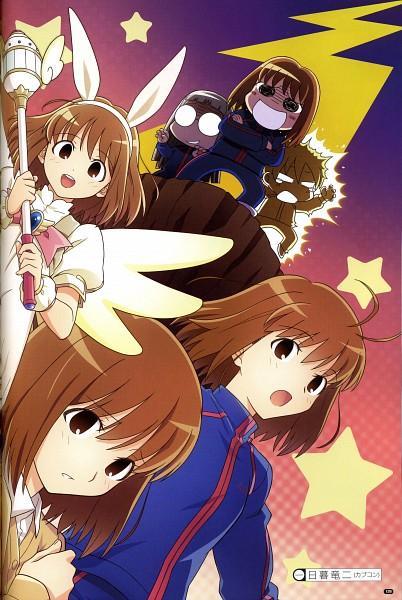 Tags: Anime, TYPE-MOON, Fate/side side materiale 4, Fate/stay night, Saegusa Yukika, Makidera Kaede, Himuro Kane, Official Art, Scan