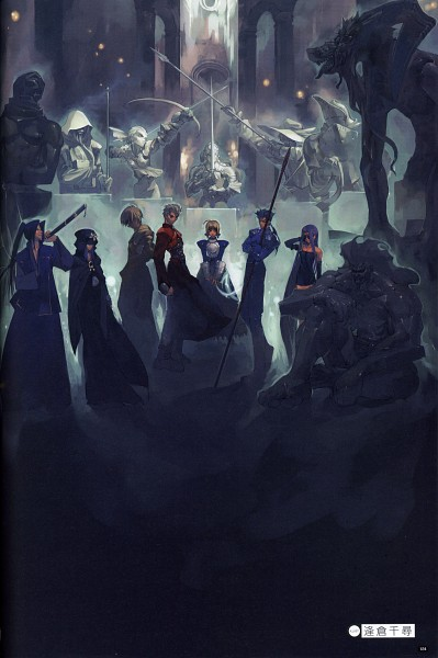 Tags: Anime, Aikura Chihiro, TYPE-MOON, Fate/side side materiale 4, Fate/stay night, Lancer (Fate/stay night), Saber (Fate/stay night), Rider (Fate/stay night), Assassin (Fate/stay night), Archer (Fate/stay night), Gilgamesh, Caster (Fate/stay night), Berserker (Fate/stay night)