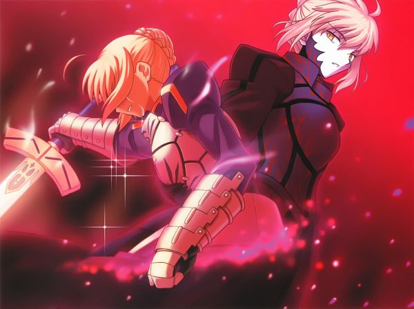 Tags: Anime, Higurashi Ryuuji, TYPE-MOON, Fate/Complete Material IV, Fate/stay night, Saber (Fate/stay night), Saber Alter, Scan, Official Art