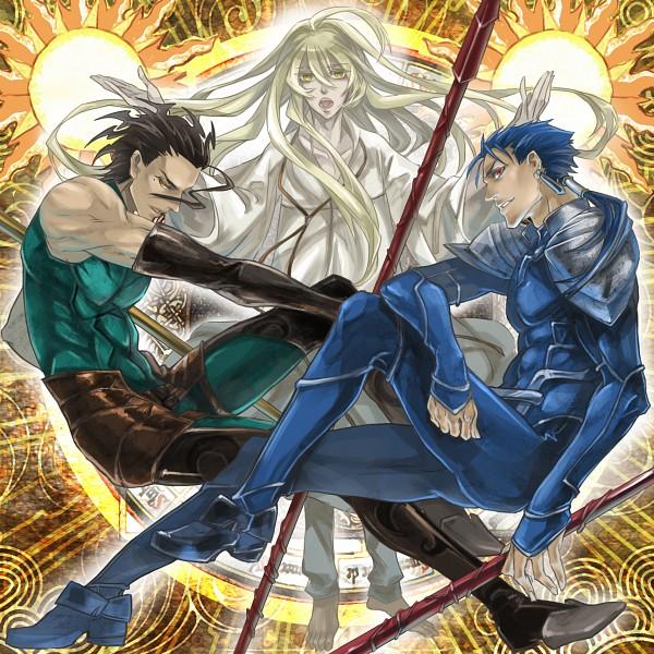 Tags: Anime, TYPE-MOON, Fate/strange fake, Fate/zero, Fate/stay night, Lancer (Fate/zero), Lancer (Fate/strange fake), Lancer (Fate/stay night), Pixiv