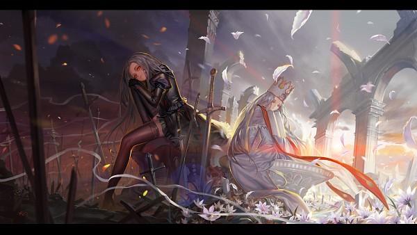 Tags: Anime, Alphonse, Fate/zero, Fate/stay night, Irisviel von Einzbern, Justeaze Lizrich von Einzbern, Facebook Cover, Pixiv, Wallpaper, Fanart, HD Wallpaper