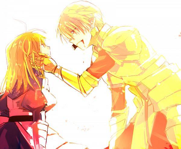 Tags: Anime, Toto (Rinaria), Fate/stay night, Saber (Fate/stay night), Gilgamesh, Pixiv, Fanart