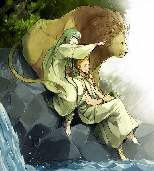 Tags: Anime, Vox, Fate/strange fake, Gilgamesh, Lancer (Fate/strange fake)