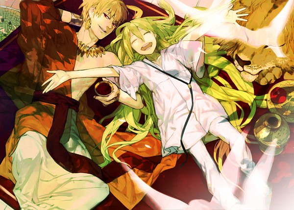 Tags: Anime, shishio*, Fate/strange fake, Lancer (Fate/strange fake), Gilgamesh, Pixiv, Fanart, Fanart From Pixiv