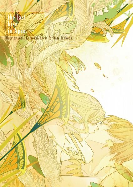Tags: Anime, Pixiv Id 2142113, Fate/strange fake, Gilgamesh, Lancer (Fate/strange fake), Fanart From Pixiv, Mobile Wallpaper, Pixiv, Fanart