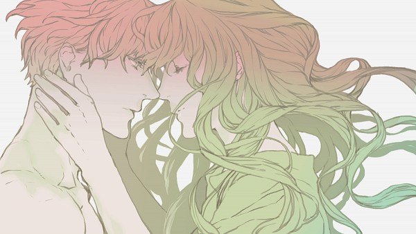 Tags: Anime, NPN, Fate/strange fake, Lancer (Fate/strange fake), Gilgamesh, Pixiv, Wallpaper, PNG Conversion, Facebook Cover