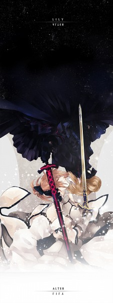 Tags: Anime, Prince-hotbuns, Fate/unlimited codes, Saber (Fate/stay night), Saber Alter, Saber Lily, PNG Conversion, Fanart, Pixiv, Fanart From Pixiv