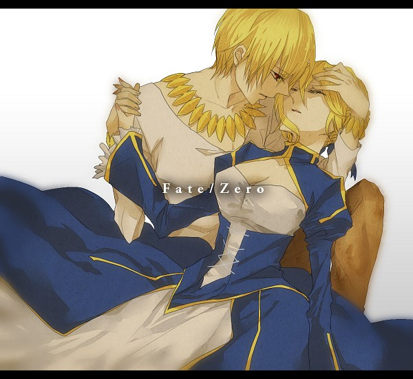 Tags: Anime, Namikawa (Pixiv1039631), Fate/zero, Gilgamesh, Saber (Fate/stay night), Pixiv, Fanart