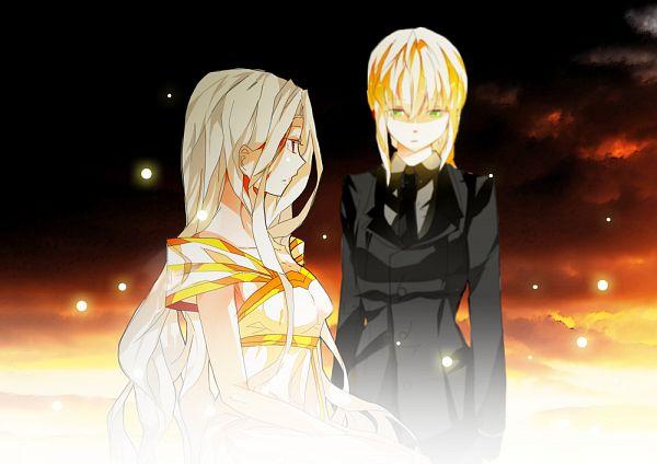 Tags: Anime, Pixiv Id 2867139, TYPE-MOON, Fate/zero, Irisviel von Einzbern, Saber (Fate/stay night)