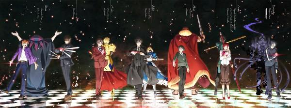 Tags: Anime, Yun (Neo), TYPE-MOON, Fate/zero, Lancer (Fate/zero), Waver Velvet, Uryuu Ryuunosuke, Kotomine Kirei, Sola-Ui Nuada-Re Sophia-Ri, Saber (Fate/stay night), Rider (Fate/zero), Gilgamesh, Caster (Fate/zero)