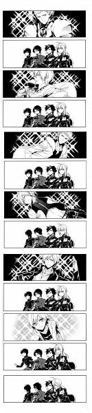 Tags: Anime, ryugo, TYPE-MOON, Fate/zero, Fate/hollow ataraxia, Saber (Fate/stay night), Gilgamesh, Ko-gil, Emiya Kiritsugu, Kotomine Kirei, Tohsaka Tokiomi, Doujinshi Page, Fanart