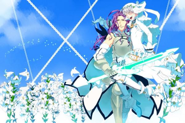 Tags: Anime, Pixiv Id 4500829, TYPE-MOON, Fate/zero, Berserker (Fate/zero), Matou Kariya, Saber Bride (Cosplay), Saber Lily (Cosplay)
