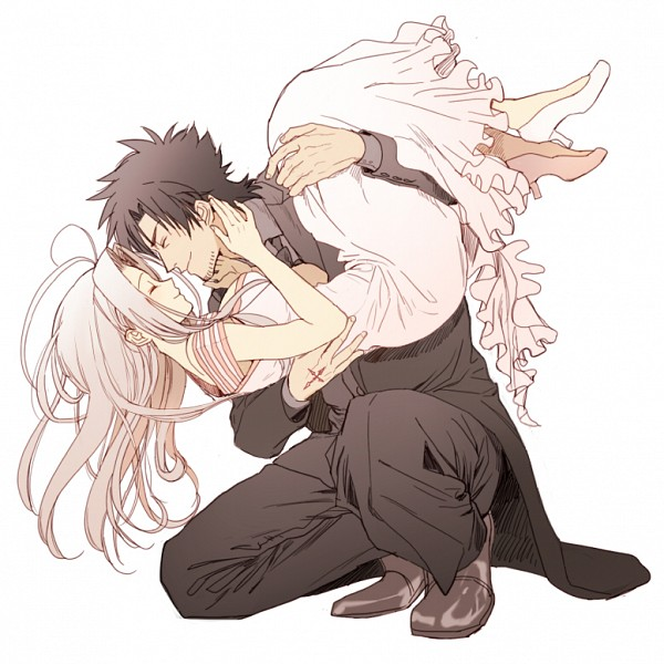 Tags: Anime, Natsuchiku, TYPE-MOON, Fate/zero, Emiya Kiritsugu, Irisviel von Einzbern, Fanart From Pixiv, Pixiv, Fanart