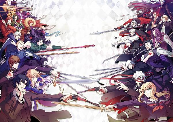 Tags: Anime, yukihime, TYPE-MOON, Fate/zero, Capsule Servant, Kotomine Kirei, Master Artoria, Caster (Fate/zero), Saber (Fate/stay night), Rider (Fate/zero), Gilgamesh, Berserker (Fate/zero), Tohsaka Tokiomi
