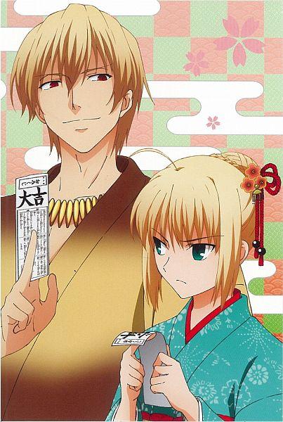 Tags: Anime, ufotable, TYPE-MOON, Fate/zero, Fate/zero Postcard & Calendar 2013, Saber (Fate/stay night), Gilgamesh, Official Art, Comic Market 83, Scan, Comic Market, Mobile Wallpaper