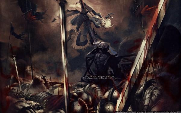Tags: Anime, Huke, TYPE-MOON, Fate/zero, Berserker (Fate/zero), Saber (Fate/stay night), 2560x1600 Wallpaper, HD Wallpaper, Wallpaper
