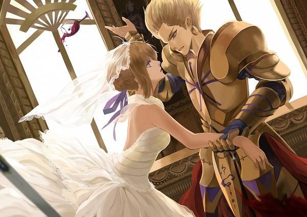 Tags: Anime, Liuruoyu8888, TYPE-MOON, Fate/zero, Gilgamesh, Saber (Fate/stay night), Pixiv