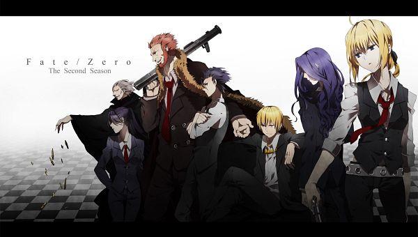 Tags: Anime, Kurohal422, Fate/zero, Lancer (Fate/zero), Rider (Fate/zero), Saber (Fate/stay night), Caster (Fate/zero), Berserker (Fate/zero), Gilgamesh, Assassin (Fate/zero), Pixiv, Fanart From Pixiv, Wallpaper