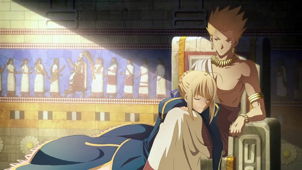 Tags: Anime, Cookie Ex, TYPE-MOON, Fate/zero, Gilgamesh, Saber (Fate/stay night), Toga, Fanart, Facebook Cover, Pixiv, Wallpaper