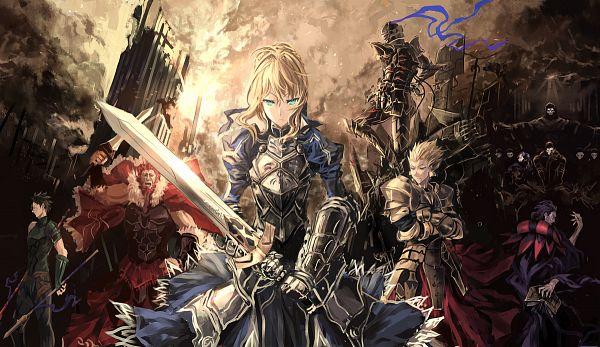 Tags: Anime, Makai no Juumin, TYPE-MOON, Fate/zero, Rider (Fate/zero), Caster (Fate/zero), Berserker (Fate/zero), Saber (Fate/stay night), Assassin (Fate/zero), Gilgamesh, Lancer (Fate/zero), Greaves, Unnaturally Black Skin