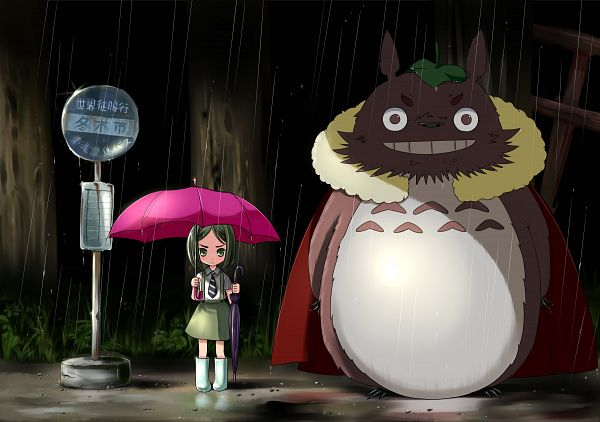 Tags: Anime, Linda B, TYPE-MOON, Fate/zero, Tonari no Totoro, Rider (Fate/zero), Waver Velvet, Character Fusion, Totoro (Cosplay), Pixiv, Fanart