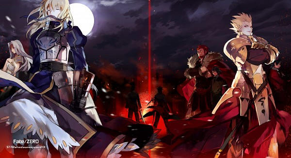 Tags: Anime, STAR Shadow Magician, Fate/zero, Irisviel von Einzbern, Saber (Fate/stay night), Gilgamesh, Kotomine Kirei, Emiya Kiritsugu, Rider (Fate/zero), Wallpaper, Facebook Cover, Fanart, Pixiv