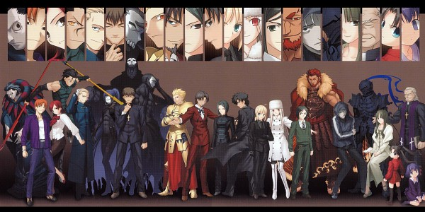 Tags: Anime, TYPE-MOON, Fate/zero, Uryuu Ryuunosuke, Irisviel von Einzbern, Assassin (Fate/zero), Tohsaka Aoi, Matou Kariya, Sola-Ui Nuada-Re Sophia-Ri, Gilgamesh, Lancer (Fate/zero), Tohsaka Rin, Hisau Maiya