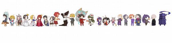 Tags: Anime, Mowmow26, TYPE-MOON, Alice in Wonderland, Fate/zero, Tohsaka Rin, Matou Sakura, Matou Kariya, Sola-Ui Nuada-Re Sophia-Ri, Gilgamesh, Lancer (Fate/zero), Hisau Maiya, Kayneth Archibald El-Melloi