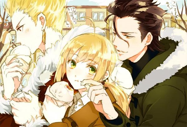Tags: Anime, Ninora Brooks Jr., Fate/zero, Gilgamesh, Saber (Fate/stay night), Lancer (Fate/zero)