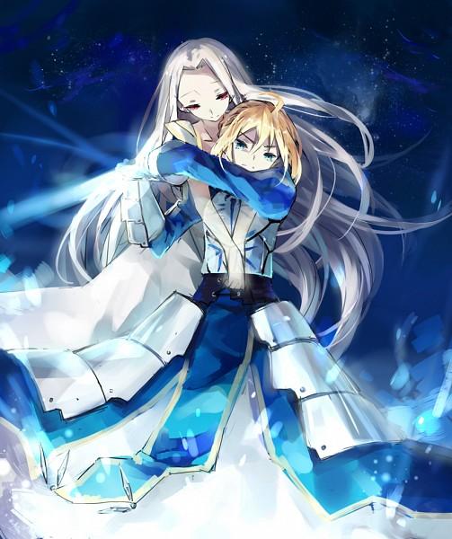Tags: Anime, Enoki Shiki, Fate/zero, Saber (Fate/stay night), Irisviel von Einzbern, Pixiv