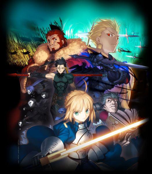 Tags: Anime, Takeuchi Takashi, TYPE-MOON, Fate/zero, Gilgamesh, Assassin (Fate/zero), Lancer (Fate/zero), Rider (Fate/zero), Saber (Fate/stay night), Caster (Fate/zero), Berserker (Fate/zero), Official Art