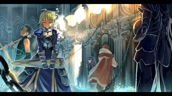 Tags: Anime, Yuushoku, TYPE-MOON, Fate/zero, Rider (Fate/zero), Saber (Fate/stay night), Caster (Fate/zero), Gilgamesh, Berserker (Fate/zero), Lancer (Fate/zero), Pixiv, Wallpaper, Facebook Cover