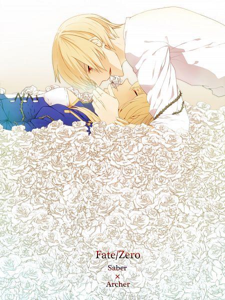Tags: Anime, Yamabukky, Fate/zero, Saber (Fate/stay night), Gilgamesh, Fanart, Pixiv