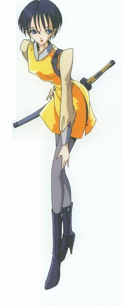 Tags: Anime, Nagano Mamoru, The Five Star Stories, Fatima Atropos, Official Art, Scan