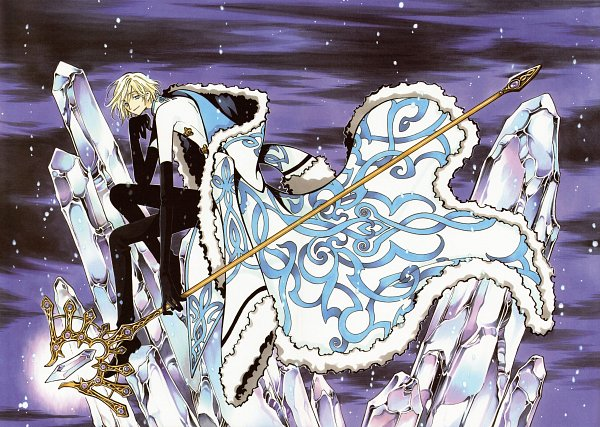 Tags: Anime, CLAMP, Tsubasa: RESERVoir CHRoNiCLE, Fay D. Flourite, Crease, Detailed, Gazing, Official Art, Scan, Fixed