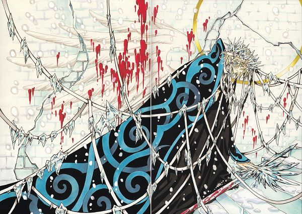 Tags: Anime, CLAMP, Tsubasa: RESERVoir CHRoNiCLE, Tsubasa Album De Reproductions 2, Fay D. Flourite, Brick Wall, Icecrown, Scan, Manga Color, Official Art