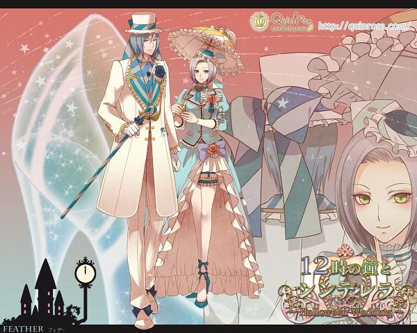 Tags: Anime, QuinRose, 12 Ji no Kane no Cinderella ~Halloween Wedding~, Feather (24 Ji no Kane no Cinderella), Wallpaper, Official Art, Official Wallpaper