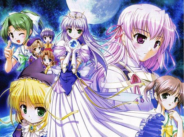 Tags: Anime, Yoake Mae yori Ruriiro na, Feena Fam Earthlight, Mia Clementis, Estel Freesia, Official Art