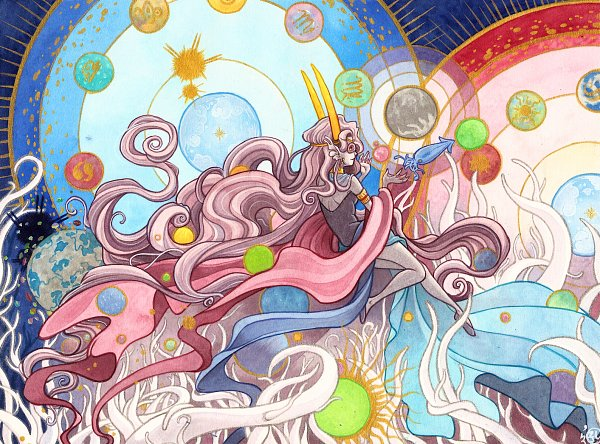 Tags: Anime, mementomoryo, Homestuck, Feferi Peixes, Squid, Fins, Zodiac, Fanart From Pixiv, Fanart, Pixiv
