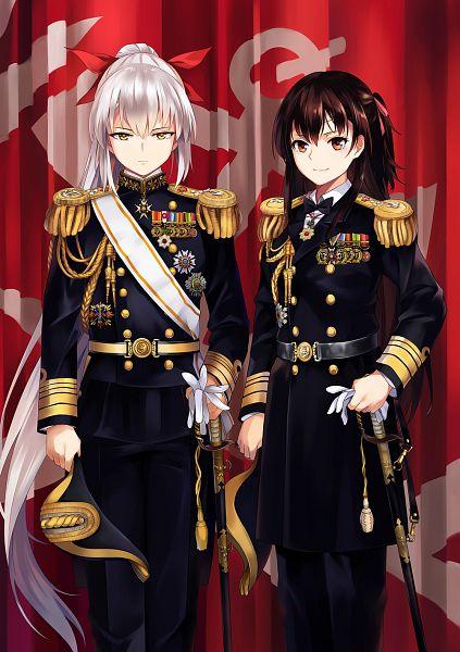 Tags: Anime, NEKO (Yanshoujie), Kantai Collection, Female Admiral (Kantai Collection), Admiral (Kantai Collection), Medal, Mobile Wallpaper