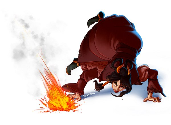 Tags: Anime, Jeinu, Avatar: The Last Airbender, Female Fire Avatar, Avatar Wuu Bi, Fanart From DeviantART, deviantART, Fanart